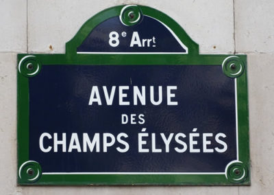 Sign for the famous Champs Elysees