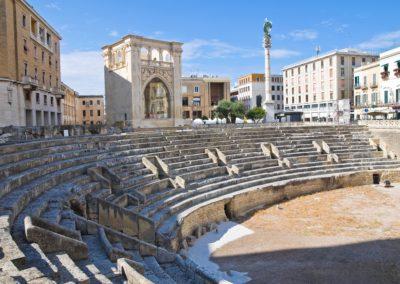 Roman Amphitheatre, Lecce, Puglia, Italy.