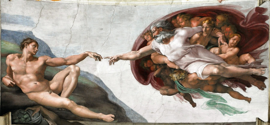 Michaelangelo's Creation of Man