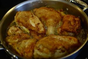chicken frying