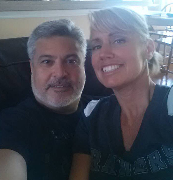The hubs and I are Raider fans.  Don't hate!!! RAIDER NATION!