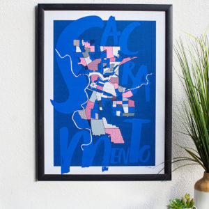 Left My Heart in Sacramento Limited Edition Screen Print By Amber Witzke