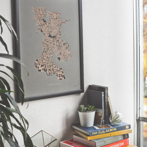Neighborhoods of Sacramento 2nd Edition Limited Edition Screen Printed Poster by Amber Witzke