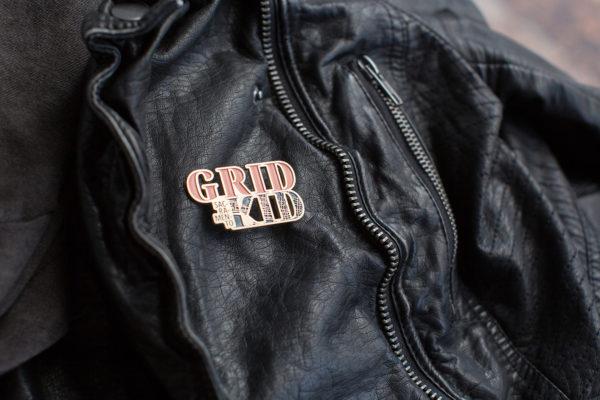 Enamel Pins by Amber Witzke: Sacramento Grid Kid