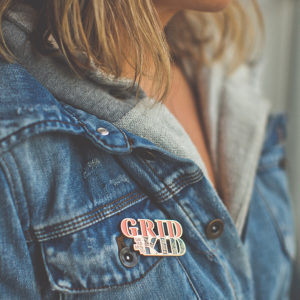 Sacramento Grid Kid Enamel Pin by Amber Witzke