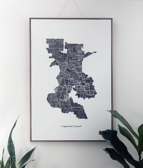 Neighborhoods of Sacramento Giclee by Amber Witzke