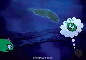 Atlantic Bigeye Sixgill Shark Illustration Process
