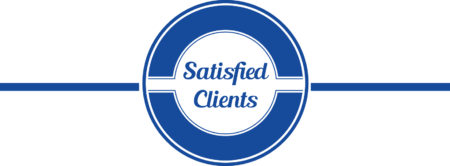 blue satisfied clients