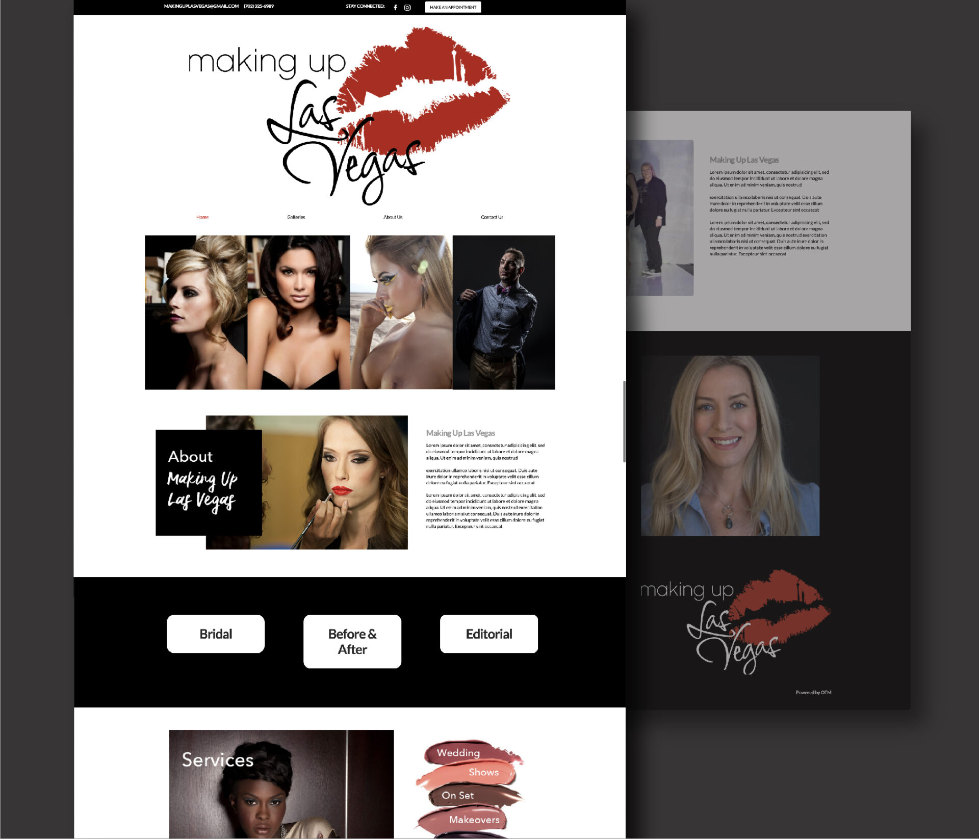 Making Up Las Vegas Website Design