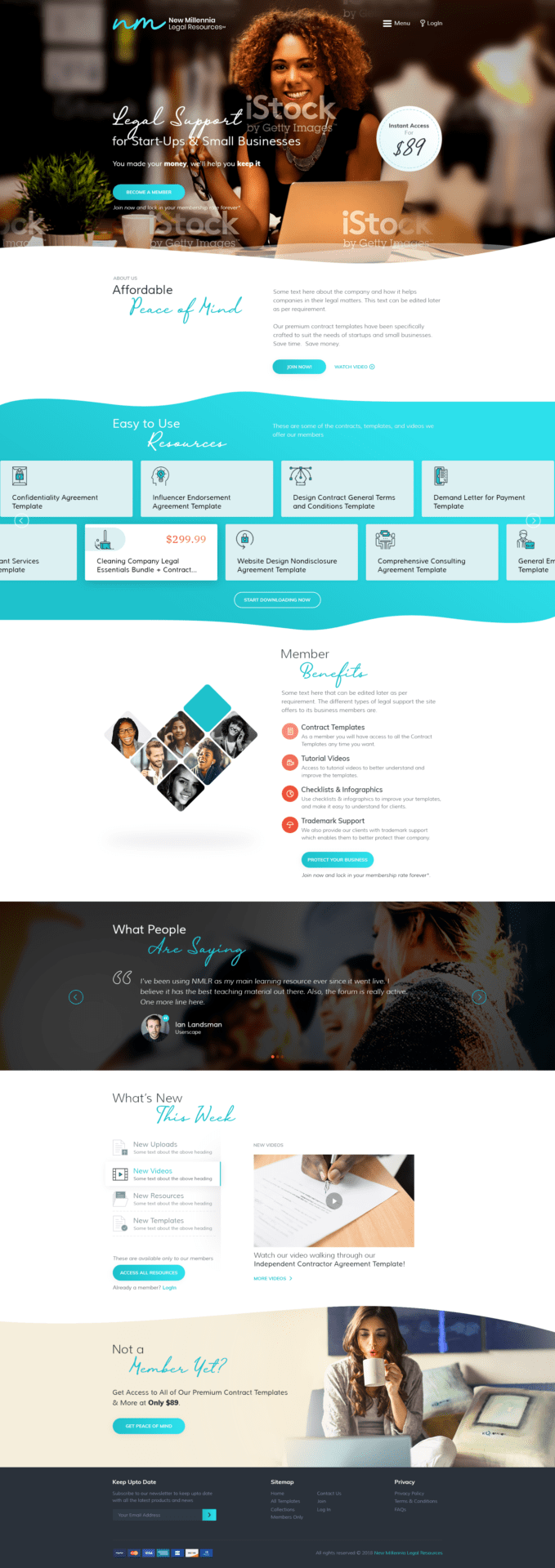 NMLR Homepage Website Design