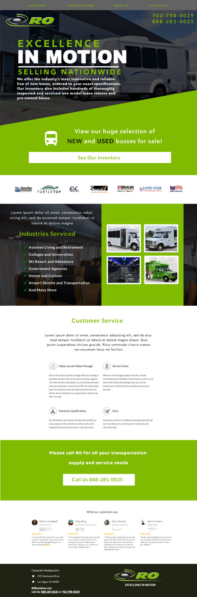 ROBusSales HomePage Design