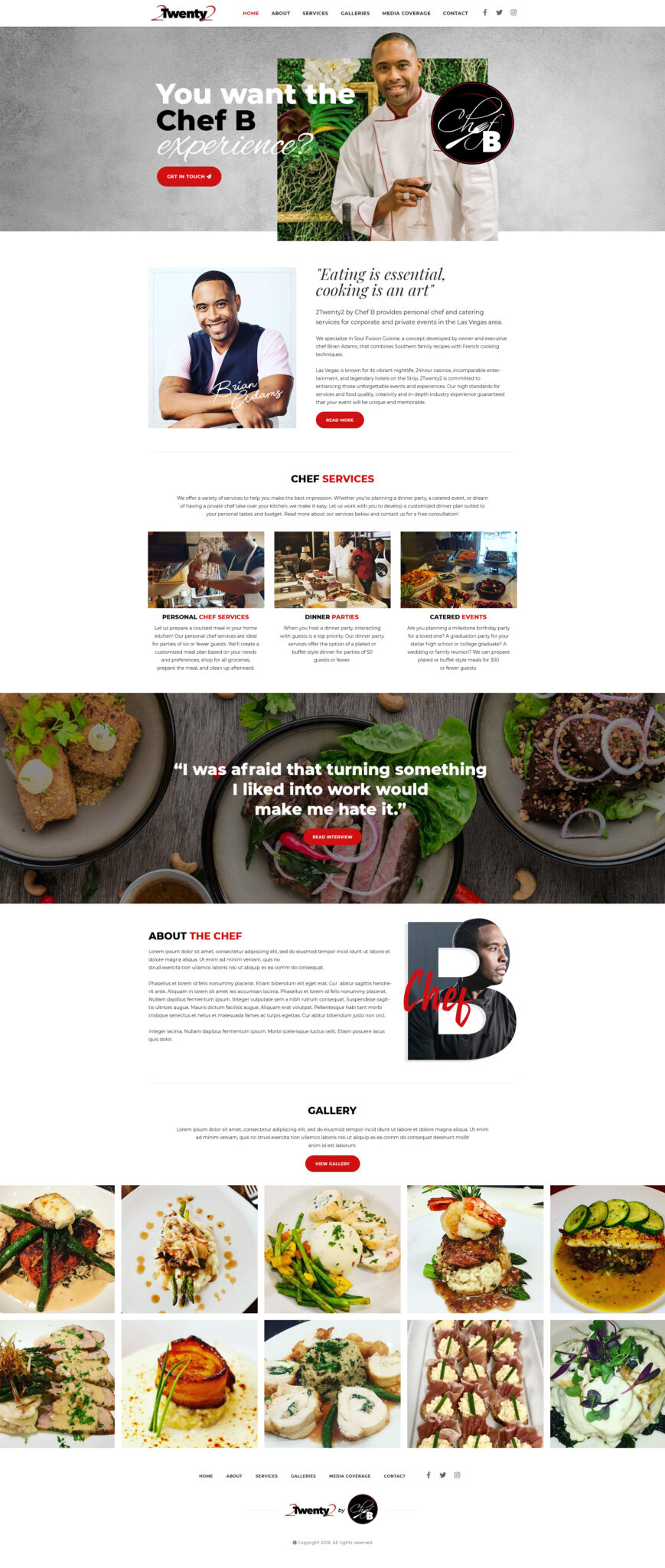 Chef B Website Design