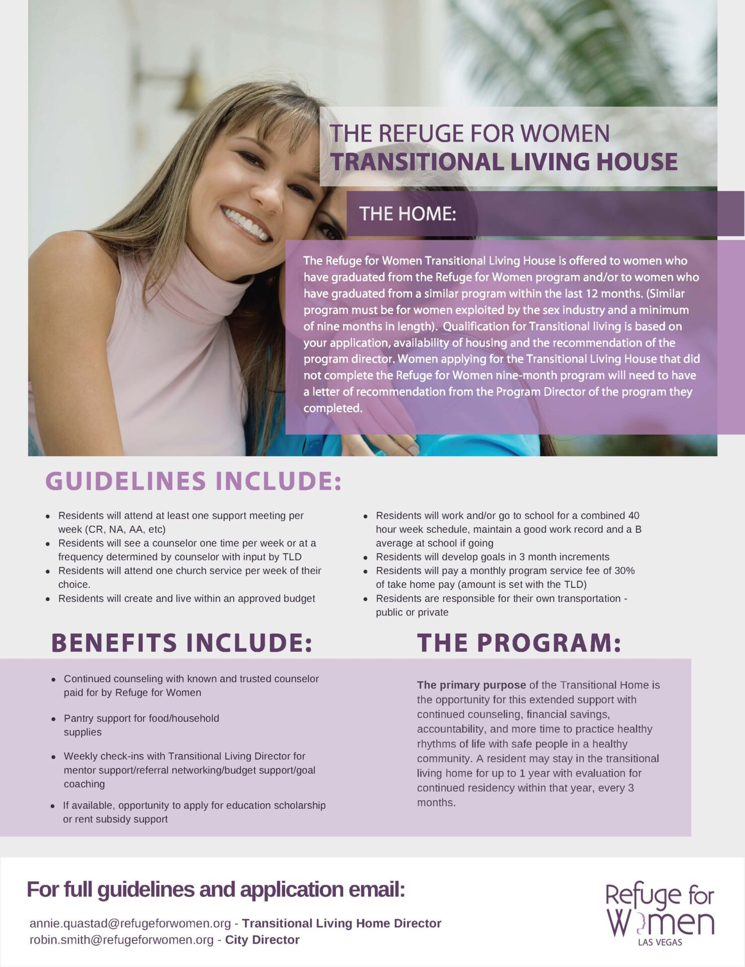 Refuge for women flyer
