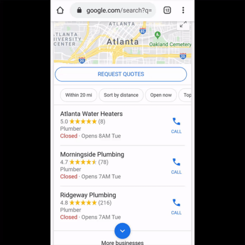mobile local results