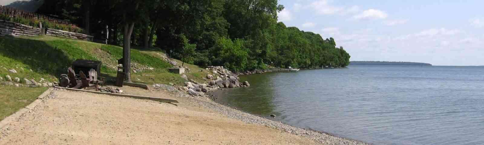 Relax on the sandy beaches of Adventure North Resort on Leech Lake