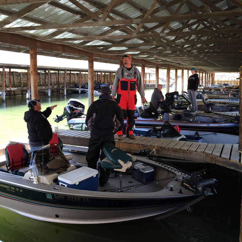 Enjoy the convenience of our covered fishing boat harbor for your Minnesota Fishing Trip on Leech Lake.