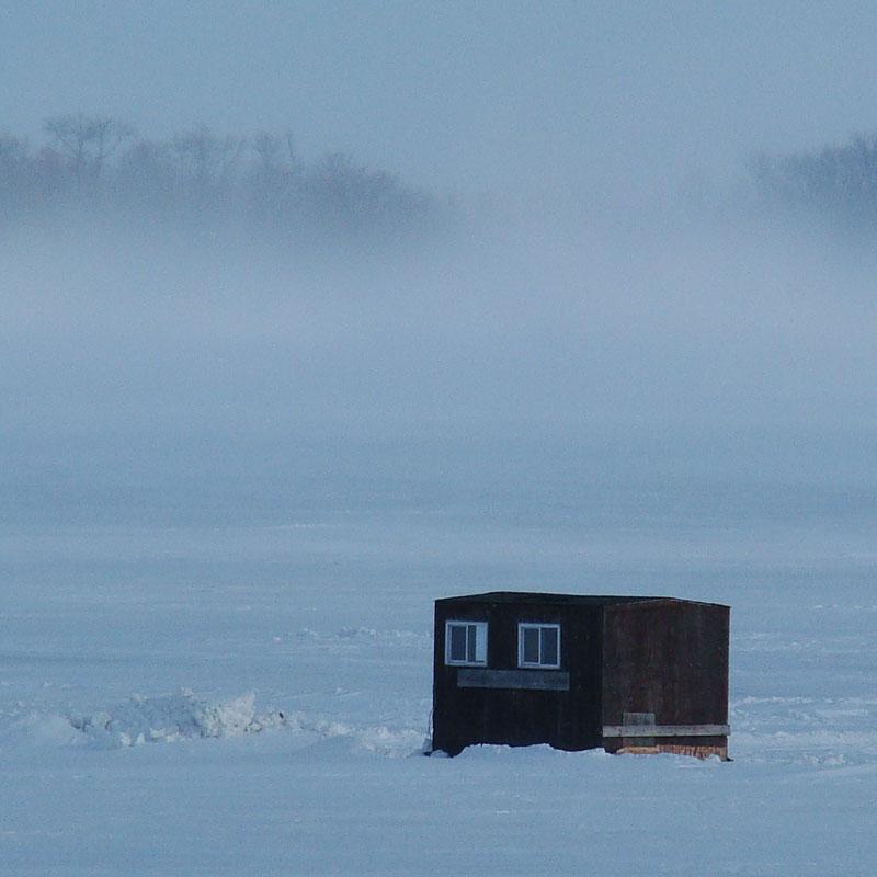 Winter in Minnesota - Ice fishing on Leech Lake