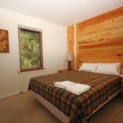 Bedroom in the heritage house lake home cabin on Leech lake