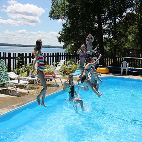 Our in-ground pool is sure to be a hit for families vacationing in Leech Lake!
