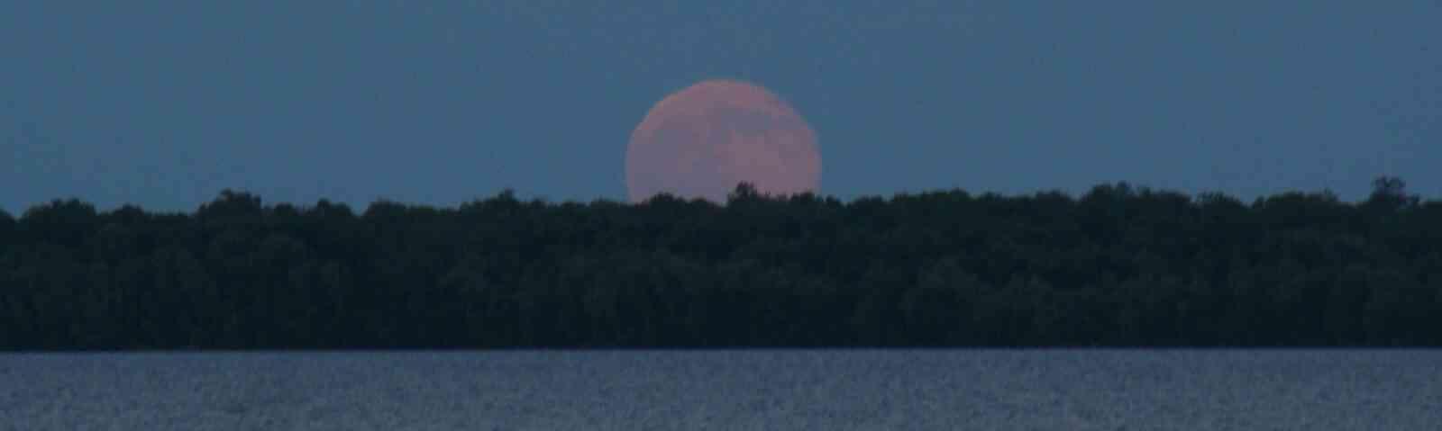 Super Moon Over Leech Lake MN