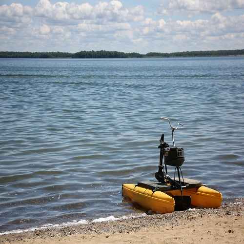 Our floating water bikes are a great new way to get out on Leech Lake.
