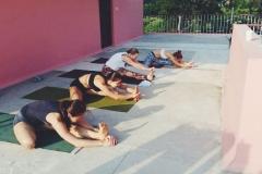 yoga class in Mysore, India