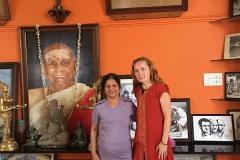 with my Guru Saraswathi