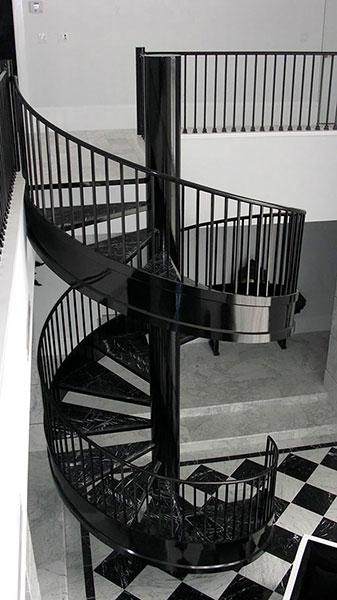 iron decor spiral staircase