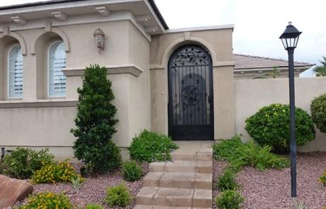 decorative wrought iron security and screen door
