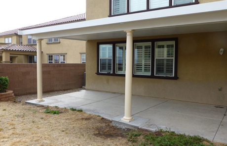 patio cover vinyl and metal two tone paint