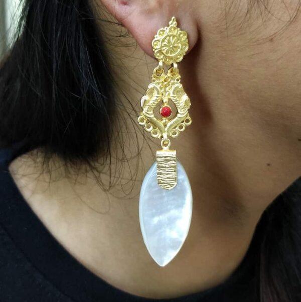 Harappan Long Dangling Earrings Body