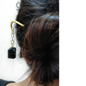 Black Dangling Hair Pin