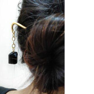 Black Dangling Hair Pin
