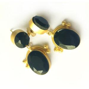 Boho Chic Onyx Earrings