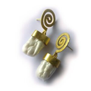 Baroque Golden Spiral Earrings