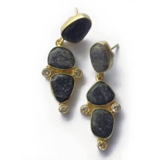 Mismatch Rubyzoisite Zircon Earrings