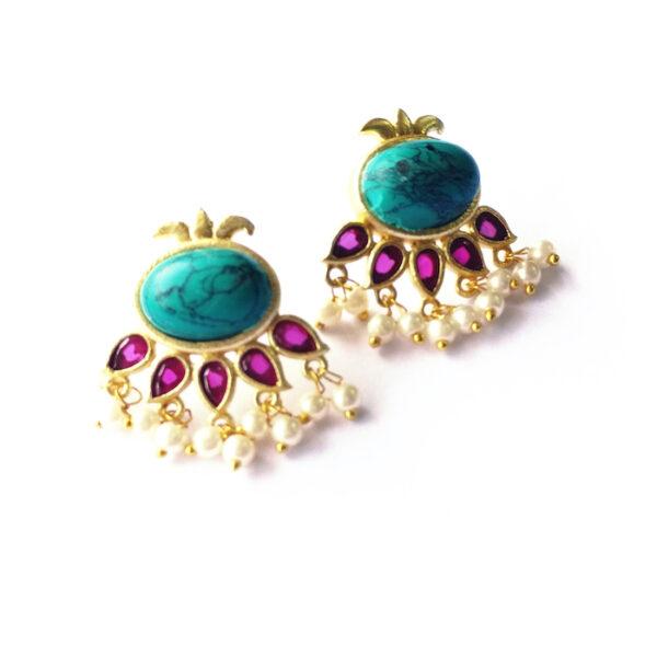 Kathakali Ornate Stud Earrings