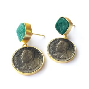 Textured Vintage Coin Danglers