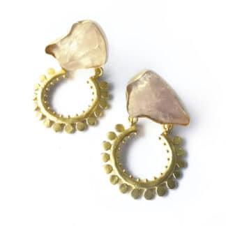 Golden Arch Dangling Earrings