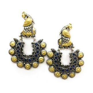 Dancing Peacock Jhumki Earrings