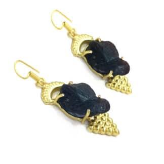 Black Onyx Egyptian Earrings