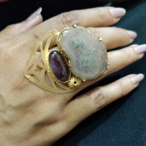 Moss Agate Statement Ring
