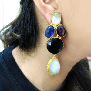 Multicolor Long Chandelier Earrings