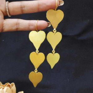 Peppy Heart Past Present Future Chandelier Earrings