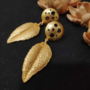 The Leaf and The Flower Dangle Earrings