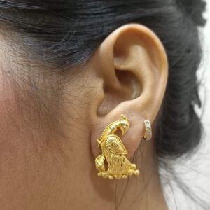 Dainty Delicate Beautiful Peacock Stud Earrings