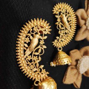 Delicate Ornamental Filigree Floral Jhumki Earrings