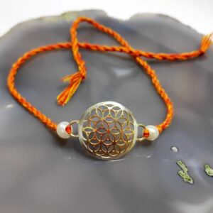 Goldplated 925 Sterling Silver Two Color Jali Rakhi