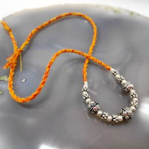 Multiwear Silver Rakhi / Bracelet / Anklet