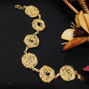 Handmade Nested Wire Texture Flexible Bracelet